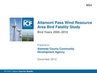 Altamont Pass Wind Resource Area Bird Fatality Study