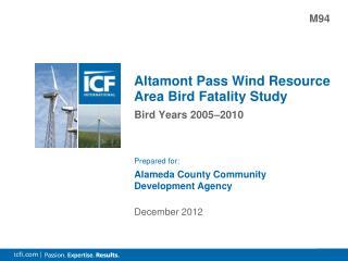 Altamont Pass Wind Resource Area Bird Fatality Study