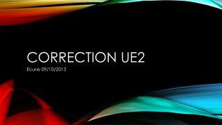 Correction UE2