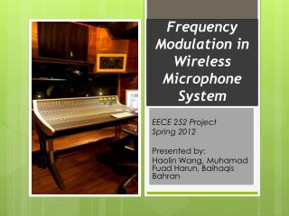 Frequency Modulation in Wireless Microphone System