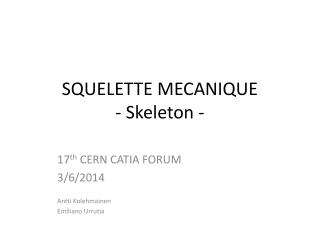 SQUELETTE MECANIQUE -  Skeleton  -