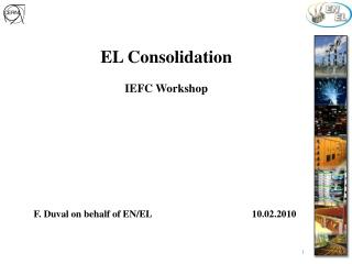 EL Consolidation  IEFC Workshop