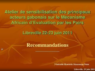 Recommandations  ______________