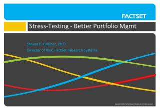 Stress-Testing - Better Portfolio  Mgmt