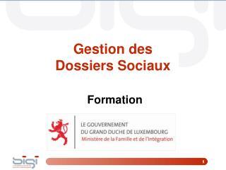 Gestion des  Dossiers Sociaux Formation