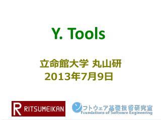 Y. Tools