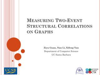 Measuring Two-Event Structural Correlations on Graphs