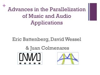 Advances in the Parallelization  of Music and Audio Applications