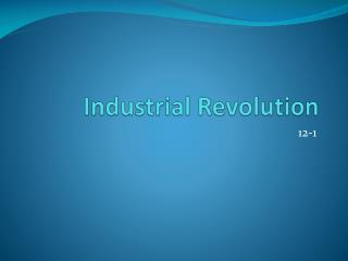 Industrial  R evolution