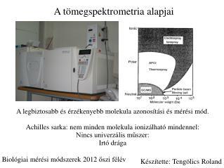 A  tömegspektrometria  alapjai