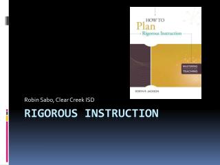 Rigorous Instruction