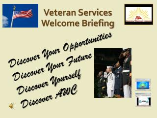 Veteran Services Welcome Briefing