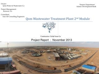 Qom Wastewater Treatment Plant 2 nd  Module