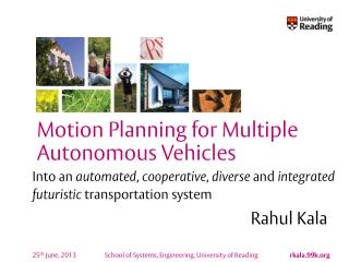Into an  automated ,  cooperative ,  diverse  and  integrated futuristic  transportation system