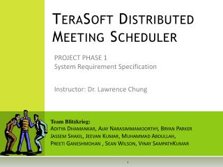 TeraSoft Distributed Meeting Scheduler