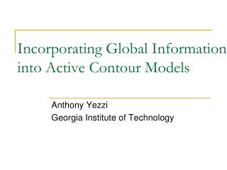 Incorporating Global Information into Active Contour Models