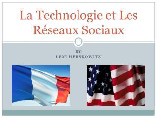 La  Technologie  et Les  R�seaux Sociaux