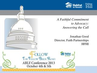 A Faithful Commitment  to Advocacy:   Answering the Call
