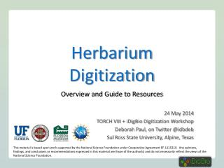 Herbarium Digitization