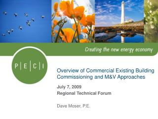 Overview of Commercial Existing Building Commissioning and MV Approaches