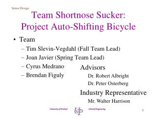Team  Shortnose  Sucker: Project Auto-Shifting Bicycle