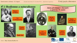47.1 Realismus a naturalismus