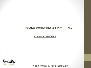 MARKETING PLANNING AND STRATEGY
