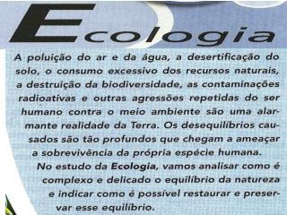 FUNDAMENTOS DA ECOLOGIA CONCEITOS BÁSICOS EM ECOLOGIA