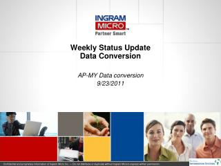 Weekly Status Update Data Conversion