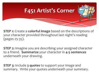F451  Artist's Corner