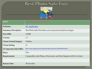 Best Photo Safe Free