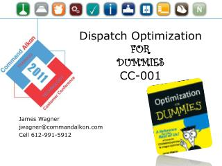 Dispatch Optimization  FOR  DUMMIES CC-001