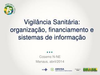 Vigilância Sanitária:  organização, financiamento e sistemas de informação