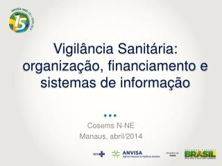 Vigil�ncia Sanit�ria:  organiza��o, financiamento e sistemas de informa��o