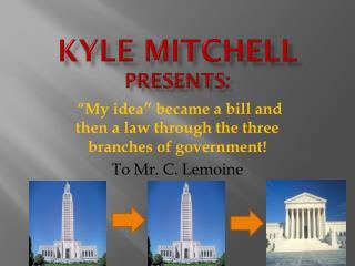 Kyle Mitchell  presents: