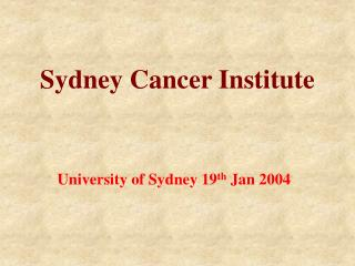 Sydney Cancer Institute