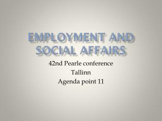 Employment and  social affairs