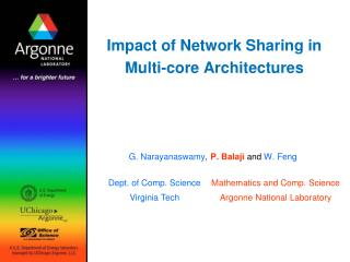 Impact of Network Sharing in Multi-core Architectures