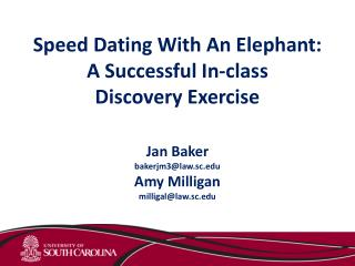 Speed Dating With An Elephant: A Successful In-class  Discovery Exercise