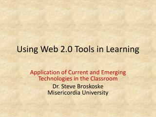 Using Web 2.0 Tools in Learning