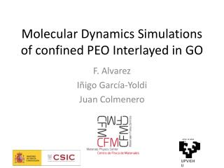 Molecular  Dynamics Simulations of confined  PEO  Interlayed  in GO