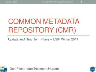 Common Metadata Repository (CMR)