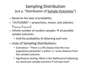 "Sampling Distribution (a.k.a. ""Distribution of  Sample Outcomes "")"
