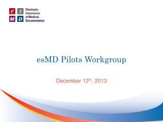 esMD Pilots Workgroup