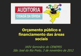 XXIV Seminário  do  CENEPES São José do Rio Preto , 3  de  novembro de  2012
