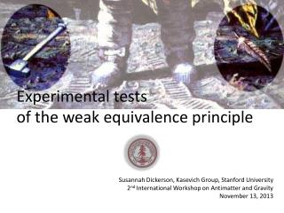 Experimental tests of the weak equivalence principle