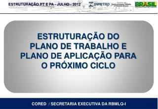 CORED  / SECRETARIA EXECUTIVA DA RBMLQ-I