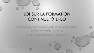 Loi sur la Formation continue   LFCo