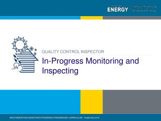 In-Progress Monitoring and Inspecting