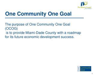 One Community One Goal